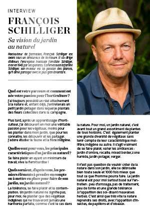 François Schilliger - Sa vision du jardin au naturel