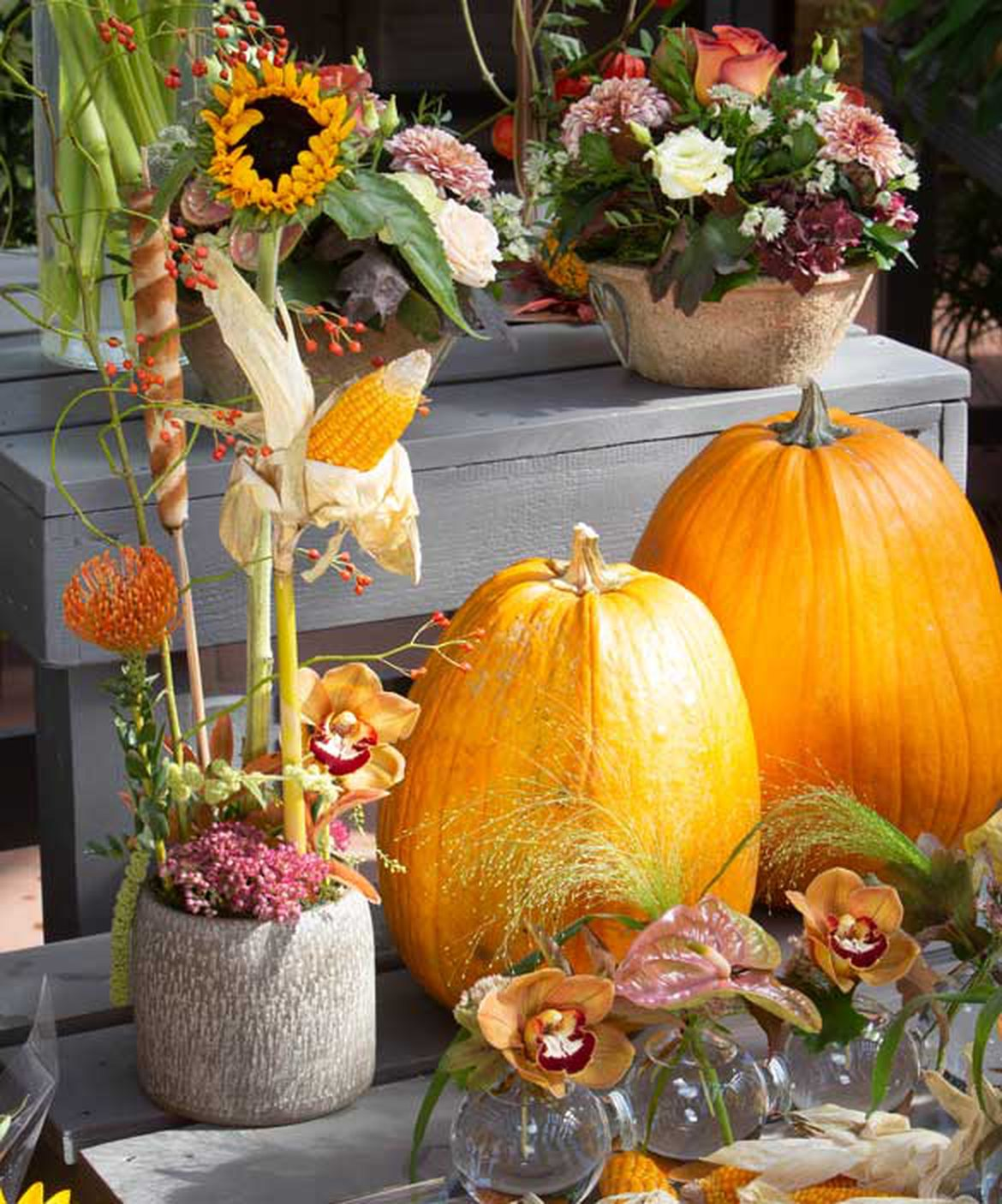 Composition Florale Centre De Table Automne confectionnez une d�coration chic et automnale en utilisant