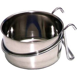 Mangeoire inox. 600 ml. Ø 120 mm  600 ml