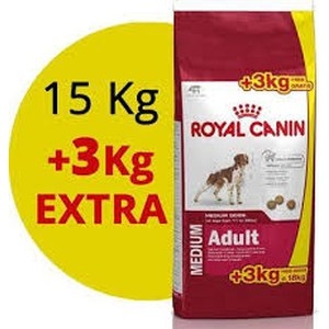 Royal Canin  Medium Adult 15kg+3kg gratis  18kg