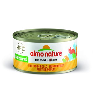 Almo nature  Almo nature  HFC CAT Natural Filet de Poulet 70g  70 g