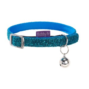 COLLIER CHAT DISCO TXS Bleu ciel XS