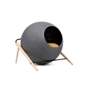 The BALL, couchage pour chat Gris souris 43x41x40cm, cocon:40cm diam