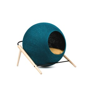 The BALL, couchage pour chat Vert turquoise 43x41x40cm, cocon:40cm diam