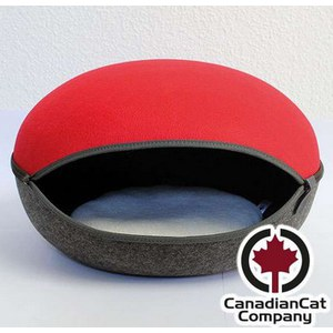 "Nid pour chat ""Canadian cat compagny"" rouge anthracite Rouge framboise 52 x 45 x 33 cm"