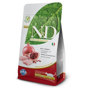 N&D  ND Grain Free Prime Fel Adult Neutered Poulet 1.5kg