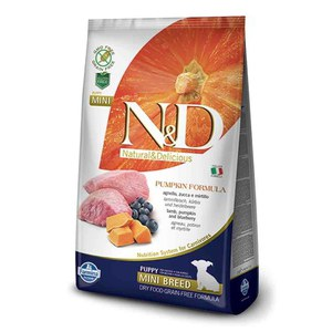 N&D  ND Grain Free Can Adult mini potir agneau myrt. 800g