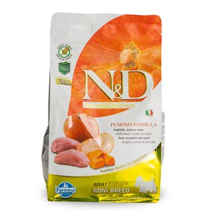 N&D  ND Grain Free Can Adult mini potir sangl pomme 800g