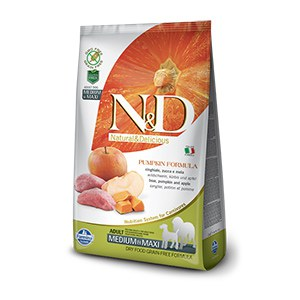 N&D  ND Grain Free Can Adult me/max potir sangl pomme 2.5kg
