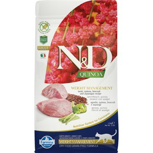 N&D  ND Weight Manag Can Adu Med Quino Agneau Broccoli 2.5kg