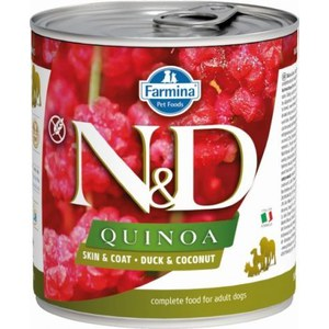 N&D  ND Grain Free Quinoa Can Skin&Coat Canard 285g