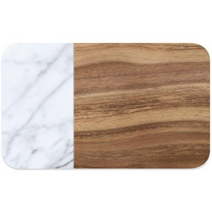 Set de table PVC Carrara, marbre+wood, 29.2 x 48.3 cm, H 2 mm