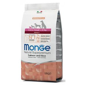 Monge  Monge Dog Adult Extra Small Salmon 2,5kg