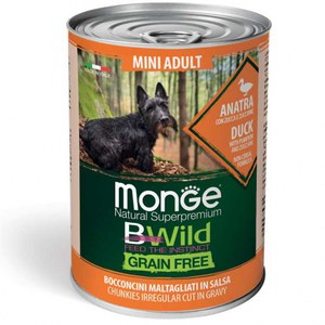 Monge  Monge Dog BWild Wet Mini Adult Duck 400g