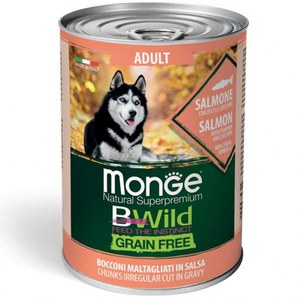 Monge  Monge Dog BWild Wet Adult Salmon 400g