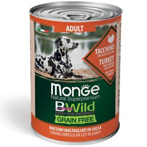 Monge  Monge Dog BWild Wet Adult Turkey 400g