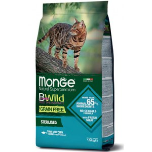 Monge  Monge Cat BWild GF Sterilised Tuna 1,5kg