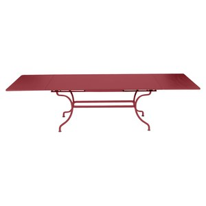 Fermob ROMANE Table Romane rectangulaire à allonges Rouge groseille 200/300x100cm