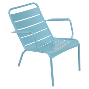 Fermob LUXEMBOURG Fauteuil bas Luxembourg Bleu turquoise 69x86x72cm