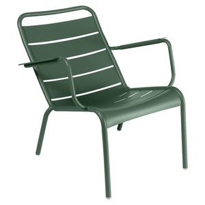 Fermob Luxembourg Fauteuil bas Luxembourg Vert sapin L 70 x l 86 x H72cm