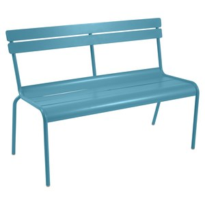 Fermob LUXEMBOURG Banc Luxembourg Bleu turquoise 118x56x85.8cm