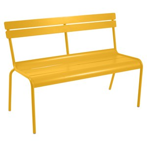 Fermob LUXEMBOURG Banc Luxembourg Jaune miel 118x56x85.8cm