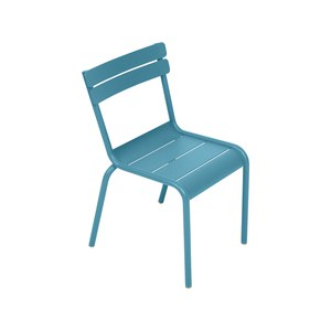 Fermob LUXEMBOURG KID Chaise Luxembourg Kid Bleu turquoise 33.5x36x55.5cm