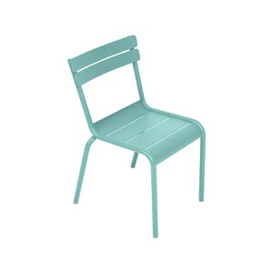 Fermob LUXEMBOURG KID Chaise Luxembourg Kid Bleu des mers du sud 33.5x36x55.5cm