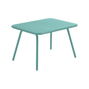 Fermob LUXEMBOURG KID Table Luxembourg Kid Bleu des mers du sud 75x55x47cm
