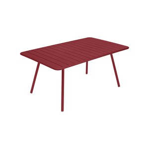 Fermob LUXEMBOURG Table Luxembourg rectangulaire Rouge groseille 165x100cm