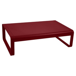 Fermob Bellevie Table basse Bellevie Rouge groseille L 103 x l 75 x H36cm