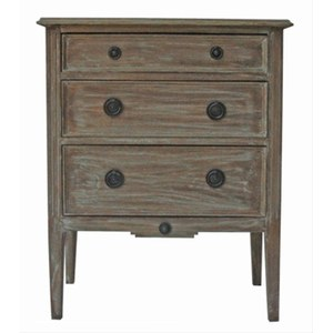 Deco Commode Richelieu Gris argile 65x35x80cm, 0.171m³
