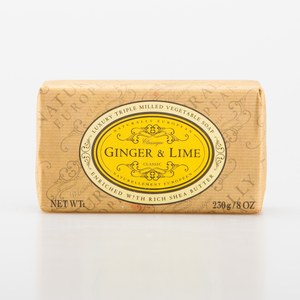 NATURALLY EUROPEAN Savon Ginger&Lime Naturally 230gr  230gr