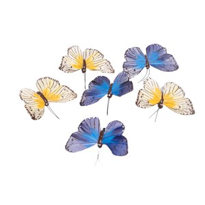 Schilliger Design  Papillon bleu-orange 12pcs  10cm