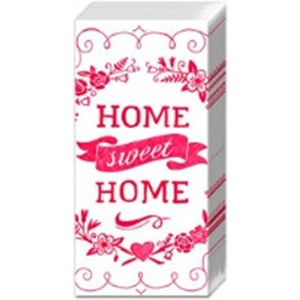 Mouchoirs Home sweet home  21x21cm