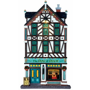 Lemax The Dog & duck pub  17.2x7.5x30.2cm