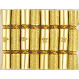 Robin Reed Crackers Gold Glitter Star 8 pièces  15cm