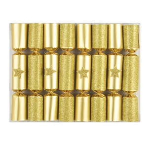 Robin Reed Robin Reed Crackers Gold Glitter Star boite de 8 pièces  15cm