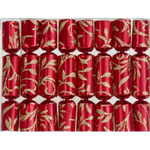 Robin Reed Crackers Red Floral glitter boite de 8 pièces  15cm
