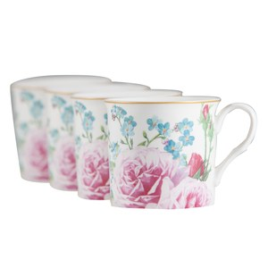 Coffret 4 Mugs Countess Rose bloom  295ml