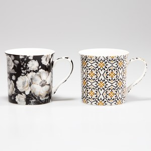 TREND COLORS Coffret 2 mugs  BLACK BAROQUE  300 ML