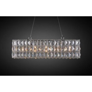 Lustre Couronne cristal rectangle  27x83cm