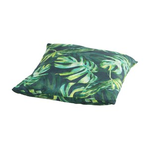 Monstera Coussin Monstera carré fond noir  45x45cm