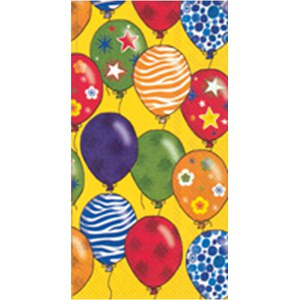 Serviettes Party Balloons Jaune bouton d'or 42x33cm