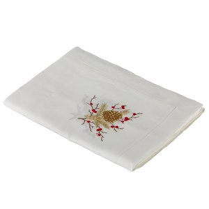 Nappe  Baies rouges  170x280cm Blanc 170x280cm