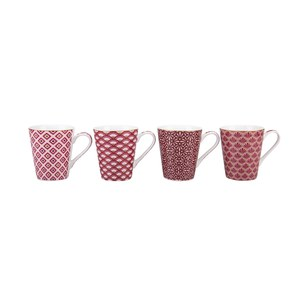 Coffee Mania Set 4 Mugs  DAMASK 300ml  300ml