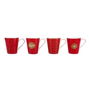 Coffee Mania Set 4 Mugs CHRISTMAS 300ml  300ml
