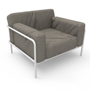 Maiori A600 sofa collection Fauteuil club Sofa Blanc albâtre W96*D87*H66 cm