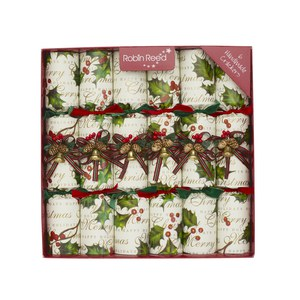 Robin Reed Robin Reed Crackers Holly Bells 6pcs  30cm