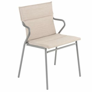 Lafuma Mobilier Ancone Fauteuil Ancone Hedona Blanc argent 62x55x86cm